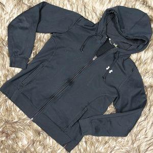 Under Armour Black Full Zip Hoodie Sweatshirt